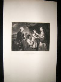 After Joshua Reynolds C1830 Folio Mezzotint. Robert, 1st Lord Clive